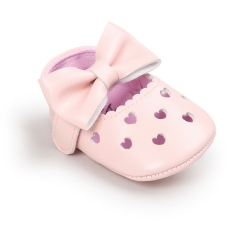 Baby shoes, love, antiskid baby princess shoes, baby shoes, soft bottom toddler shoes. pink 11cm