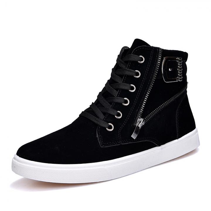 Autumn winter men Martin boots belt buckle tide men's shoes black 39