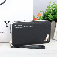 Multi function mobile phone bag box, lady wallet, long pencil box, zero wallet. blue long