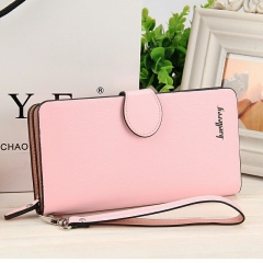 Ladies handbag multi function large capacity long zipper wallet mobile phone bag violet long