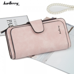 Women Long Clutch Wallet High Quality Hasp Design Ladies Long Purse Matte Leather Wallet rose red long