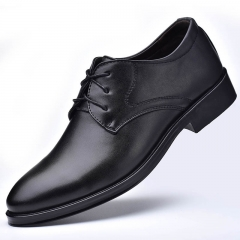New men's leather shoes, business men's shoes, lace UPS, casual shoes black 38 leathers