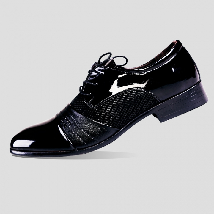 92836699784 large size men wedding shoes microfiber leather formal business pointed toe  for man dress shoes black