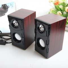 Bass USB pure wooden speaker, laptop computer, general network TV set top box audio black one size