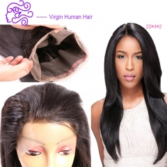 Europe and America selling hot money 360 full lace frontal India real wig 1b natural color 20.32cm