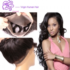 European and American hot selling 360 full lace accessories body wave lady wig 1b natural color 20.32cm