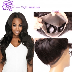 Europe and America sell hot money, real hair, ladies' hair and 360 full lace hair abroad 1b natural color 20.32cm