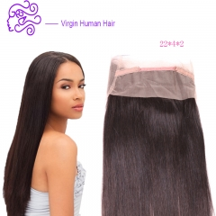 European and American hot selling India real hair 360 lace accessories front wig 1b natural color 20.32cm