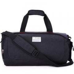 Sports cylinder fitness bag yoga bag, shoulder bag, folding baggage bag, handbag gray middle-sized