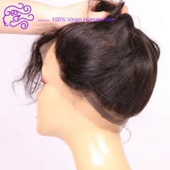 Europe and America sell 360 lace accessories 22*4*2 real hair block India hair 1b natural color 20.32cm