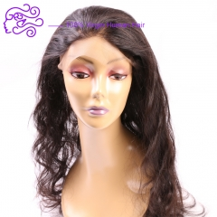 360 lace front lace Frontal body wave 22*4*2 real hair block 1b natural color 20.32cm