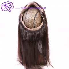 European and American sales of exploded lace accessories 360 full lace frontal 1b natural color 20.32cm