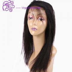 European and American hot 22*4*2 lace hair 360 wig straight human hair 1b natural color 20.32cm