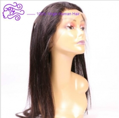 Europe and the United States sell straight 360 lace accessories real hair wig 22x4x2 1b natural color 20.32cm