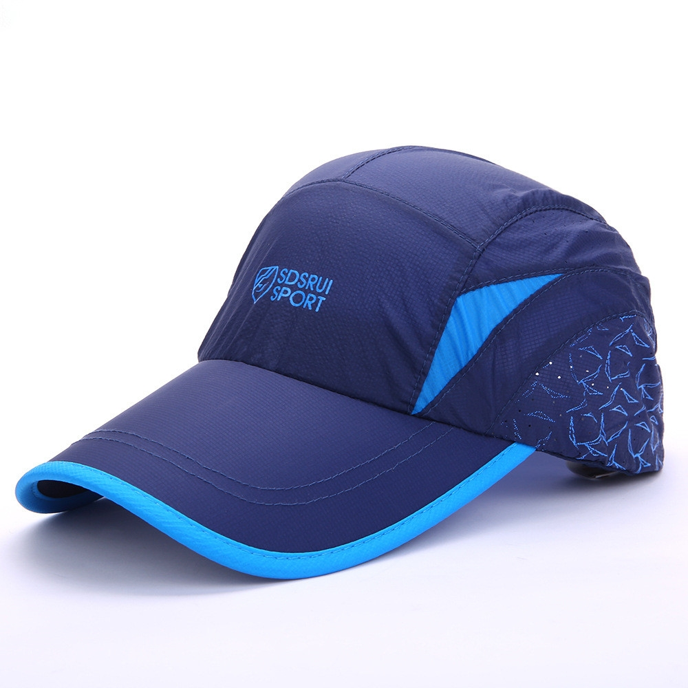 Summer fashionable leisure fast drying cap sun cap blue adjustable ... 84bfa3c9554