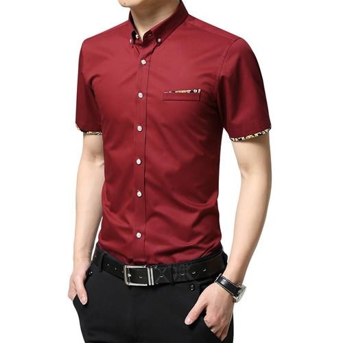 9e37bb6db0e Kilimall  Men s Short Sleeve Shirt Plaid Casual Summer Shirts Slim ...