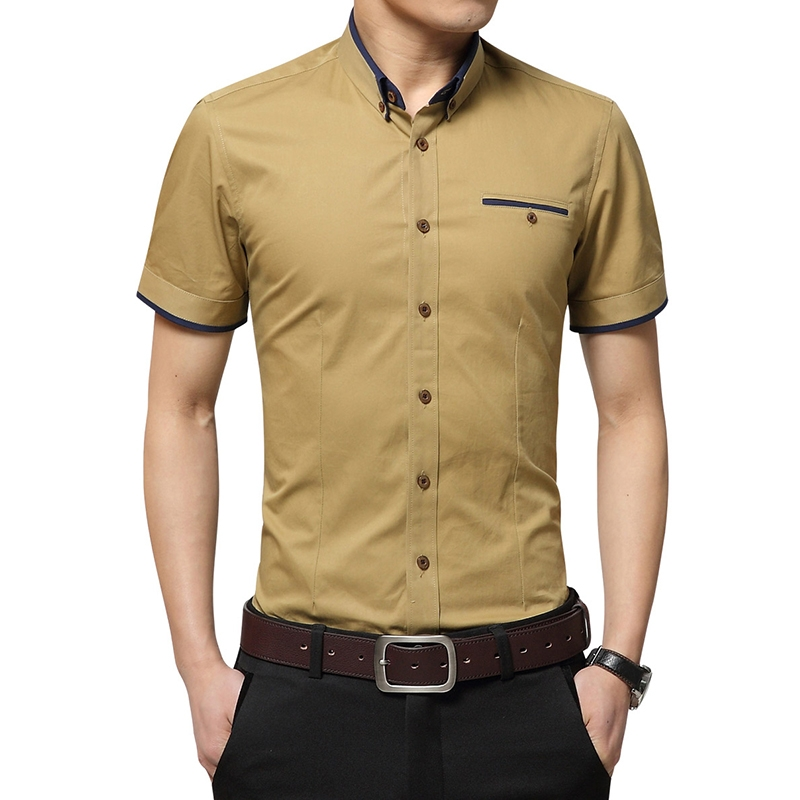 47d53a8e327 Summer Men Shirts Male Short Sleeved Color Cotton Slim Fit Men s Business  Casual Shirt yellow 5xl  Product No  1473813. Item specifics  Seller ...
