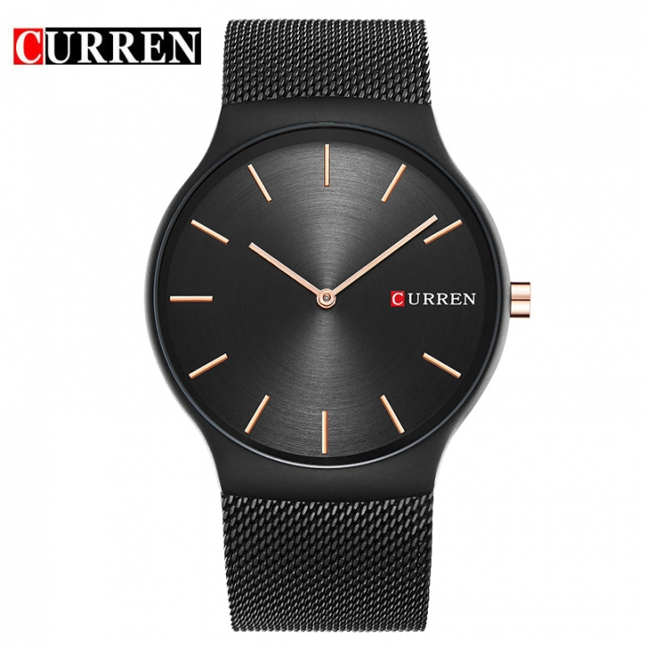 CURREN 2017 new black rose gold Luxury Brand Analog sports Wristwatch Quartz Business Watch Men 8256 black one size