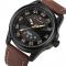 NAVIFORCE Men Fashion Casual Watches Men's Quartz Clock Man Leather Watch black yellow one size