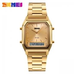 SKMEI Men Fashion Casual Quartz Wristwatches Digital Dual Time Sports Watches blue one size