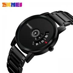 SKMEI Men's Quartz Watch Waterproof Full Steel Fashion Watches Top Luxury Brand Wristwatches black one size