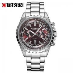 CURREN watches men quartz watch  masculino luxury military wristwatches fashion casual water  8053 red one size