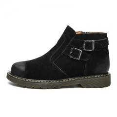 Genuine Leather Men Boots Autumn Winter Ankle Boots Fashion Footwear Men Shoes black 40