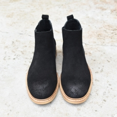 leather boots man Martin British male  men boots chelsea winter boots black 40