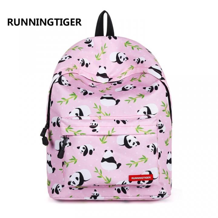 2e7af4b835 RUNNINGTIGER cute giant panda backpack girl Travel Backpack 01 one size
