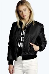 women's solid color short paragraph personality jacket fashion ladies zipper jacket black l