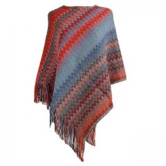 MUKATU shawl Scarf Sweater Striped Tassel V-neck Sweater Pullover  Women Sueter Mujer Casual Jumper 1 one  size