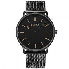 CURREN Luxury Brand Date Casual Watch Men Sports Watches Quartz Military WristWatch Male Clock yellow one size