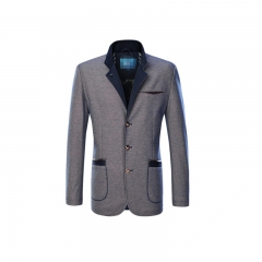 Men Notch Lapel Business blue Leisure Tuxedo Latest Coat cotton Jacket Blazers blue 170/88A