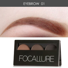 3 Colors Eye brow Powder Palette Waterproof Smudge Proof With Mirror and Eyebrow Brushes Inside 1