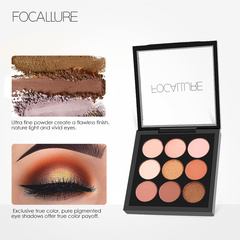 Earth Tone Shimmer Matte Pigment Glitter Eyeshadow Palette Artist Palette Makeup Metallic Eye Shadow 2