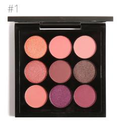 Earth Tone Shimmer Matte Pigment Glitter Eyeshadow Palette Artist Palette Makeup Metallic Eye Shadow 1