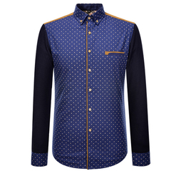 Thick Shirt Luxury Warm Cotton Shirt Oxford Britsh Style Business Official Good Quality Heavy dot m