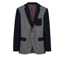 Thick Casual Men Blazer Cotton High Quality Luxury Fashion Brand Men Suit Coat Winter Wedding Groom gray 165/84y (46a)