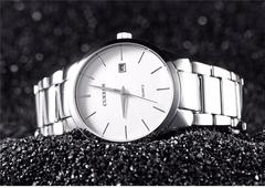 Curren Business Men Male Luxury Watch Casual Full steel Calendar Wristwatches quartz watches silver white one size