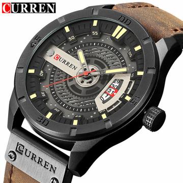 554389827ac8 CURREN 8301 Top Brand Luxury watch men date display Leather creative Quartz Wrist  Watches brown one