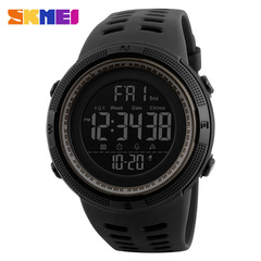 SKMEI Sport Electronic Watch Men Waterproof 50m Outdoor Digital Watches Countdown Time Alarm black one size