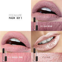 Lip Color Makeup Waterproof Tint Lip Gloss Red Velvet Ultra Nude Matte Lipstick Colourful kit 1