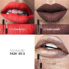 Lip Color Makeup Waterproof Tint Lip Gloss Red Velvet Ultra Nude Matte Lipstick Colourful kit 3