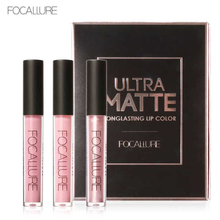 Lip Color Makeup Waterproof Tint Lip Gloss Red Velvet Ultra Nude Matte Lipstick Colourful kit 1