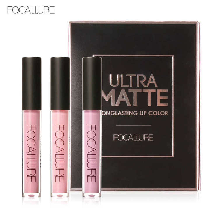 Lip Color Makeup Waterproof Tint Lip Gloss Red Velvet Ultra Nude Matte Lipstick Colourful kit 2