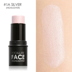 Bling Highlighter stick Shimmer Highlighting Powder Creamy Texture Water-proof Silver Shimmer Light 1a