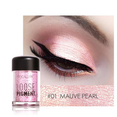 FOCALLURE 18 Colors Glitter Eye Shadow Cosmetic Makeup Diamond Lips Loose Makeup Eyes Pigment Powder 1