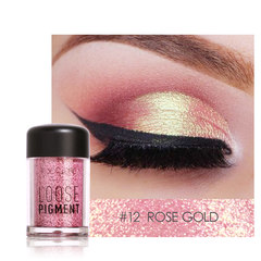 FOCALLURE 18 Colors Glitter Eye Shadow Cosmetic Makeup Diamond Lips Loose Makeup Eyes Pigment Powder 12