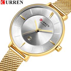 Ladies Dress Mesh Watches Fashion Slim Stainless Steel Wrist Watch For Women Female Quartz Clock 04 one size