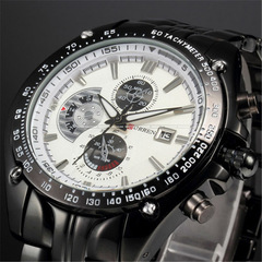 Fashion Casual Brand Sports Quartz Men's Wrist Watch Big Dial Waterproof Steel Watch Male Clock 03 one size
